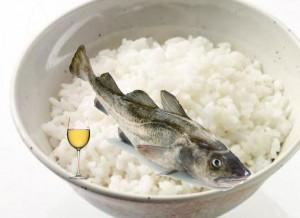 рыба в  белом вине